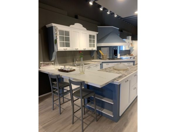 Cucina ad isola in laccato opaco altri colori Sandy