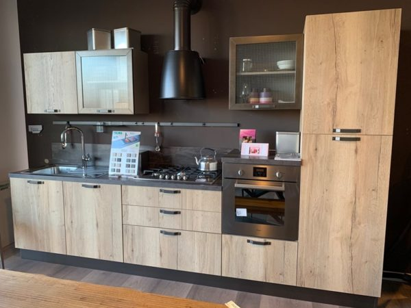 Cucina lineare industriale Creo kitchens kyra telaio vintage Creo kitchens